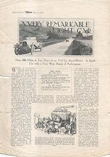 Aston MARTIN 11.6HP articolo da 1921 a motore singolo foglio (fragili!)