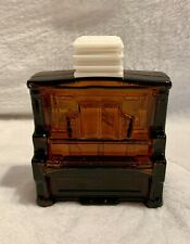 Vintage Avon After Shave Amber Glass Bottle Upright Piano Empty No Box