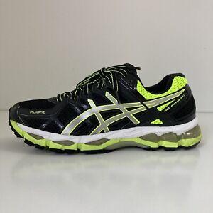 *RARE Asics Gel Kayano 21 Men's US 9.5 Black Volt Silver White Running Shoes