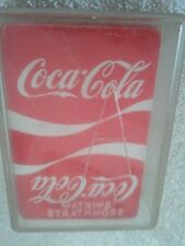 COCA-COLA VINTAGE PLAYING CARDS WITH CASE TRUE COLLCTIB
