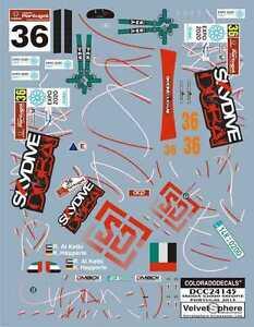 """DECALS 1/24 SKODA FABIA S2000 - #36 """" SKYDIVE """" PORTUGAL 2013  - COLORADO  24145"""