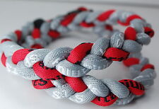 """20"""" Gray Red Titanium Necklace Tornado - Lot of 14 for $40"""
