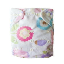 Alva One Size Reusbale Cloth Diaper Pocket Nappy 1 insert Adorable Minky P05