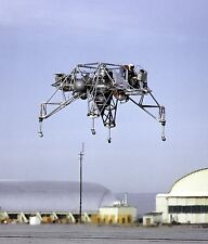 LUNAR LANDING RESEARCH VEHICLE IN FLIGHT AT EDWARDS AFB - 8X10 PHOTO (EP-145)