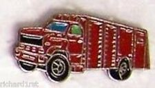 Hat Lapel Tie Tac Push Pin Fire Rescue Truck red NEW