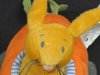 IKEA FABLER BABY RATTLE BUNNY RABBIT CARROT RACECAR SOFT PLUSH STUFFED EASTER