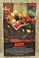 Vintage 1980 Cassette Tape Accept Russian Roulette Portrait Records