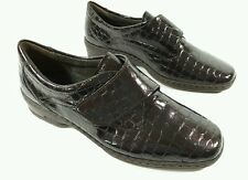 LuftpolsterJenny faux patent leather flat shoes UK 5.5 H worn once