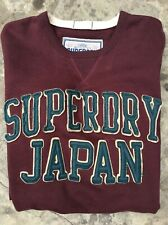 """MENS BURGUNDY SUPERDRY TRACKSUIT/SWEATSHIRT TOP SIZE LARGE 46"""" CHEST IN VGC"""