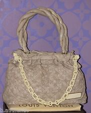 Louis Vuitton $4K+ Monogram Olympe Stratus GM Ecru Beige Leather Tote *Limited*!