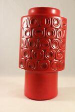 "Vintage 1972 MCCOY Art Pottery MATTE RED SCANDIA 8-1/2"" VASE #36 Mid Century"