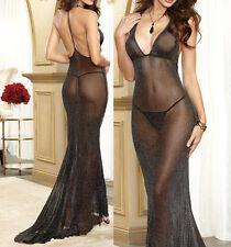 Sexy Babydolls glisten backless Lingerie Sheer Underwear Costume Dovetail dress