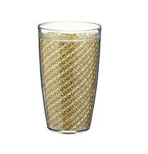 Kraftware Straw Design Insulated Acrylic Tumblers, 24oz., S/4 (40025)