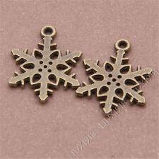 30pc Small Pendants Charm Snowflake Pendant Accessories Jewellery Making V271