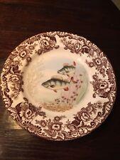 "Spode /""Woodland Stream/"" Fish Dinner Plate 10 5//8/"" SALMON"