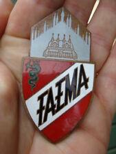Placca Faema macchina da caffè espresso a leva urania emblem badge old coffee