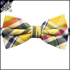 Yellow, Black, Red & White Tartan Bow Tie