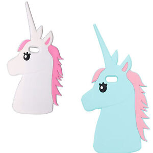 Cute Animal Unicorn Horse Silicone 3D Case For iPhone 4 5 5s SE 5c 6 7 6s 7 Plus