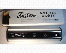 Kustom Double Cross Five Button Guitar Amp Footswitch New