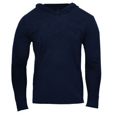 Men Muscle Basic Fit Hoodies Pullover Gym Long Sleeve Athletic Light Sweatshirts