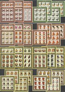 KV IMPERF 2002 MOZAMBIQUE BUTTERFLIES DOGS FLOWERS EGYPT MONUMENTS 8*(9SET) MNH