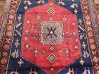 5'x7' Handmade wool Authentic Vintage Birds Malayer Geometric Oriental area rug