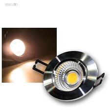 LED-Alu-Einbaustrahler 3W COB warmweiß, 230V, Deckenleuchte, Einbauleuchte Spot