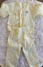 14 Piece Layette Set, Yellow ~2x Shirts, 2x Pants & 2x Bibs Mitts,0/3 Months New