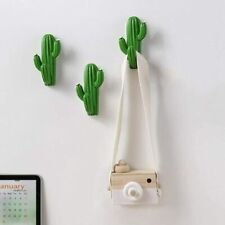 3pcs Resin Cactus Cute Hooks Hangers Wall Mounted for Coats Bags Towels Key