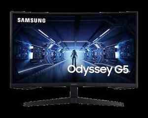 "Samsung Odyssey G5 G55T 27"" QHD 144Hz LED Gaming Monitor - Black LC27G55TQWRXXU"