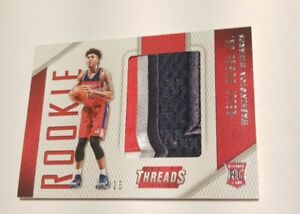 2019-20 Noir KELLY OUBRE JR Game-Used Jumbo Patch /25 rookie prizm