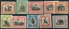 1918 - NORTH BORNEO - RED CROSS SELECTION OF 10, USED