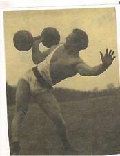 JOHN GRIMEK Pressing CYR Dumbell Bodybuilding Photo B&W finishing