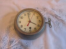 Vintage USSR Soviet Russian Submarine Navy Cabin Clock With Key