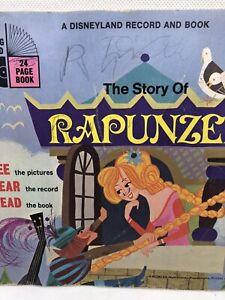The Story of Rapunzel Vintage Disneyland Record & Book VTG 1970 USA Walt Disney