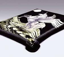 Queen Size Vivalon Unicorn (Black) Korean Style Mink Blanket - By Solaron