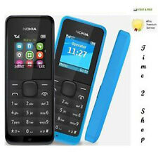 Nokia 105 Black,  Slim with Color Display FM Radio, BIG BUTTON CHEAP (Black)