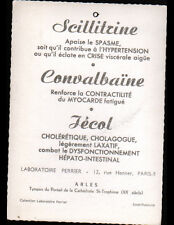 ARLES (13) Publicité LABORATOIRE PRODUITS PHARMACEUTIQUES PERRIER à PARIS IX°
