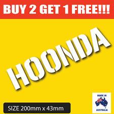 [ HOONDA ] Hoonigan Honda Decal Sticker  IN WHITE