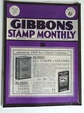 GIBBONS STAMP MONTHLY MAR 1952-ITALY HISTORY ON STAMPS,KINGS DEATH,FISH-HOOK