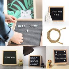 Convenient Felt Letter Board 10x10 Oak Frame 340 White Characters Message Sign