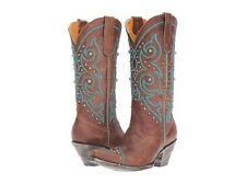 New in box Old Gringo Womens Marsell Stitch Zon Western Boot Orx/Turquoise 9.5