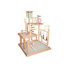 Three Levels Parrot Gym Bird Activity Stand for Cockatiels Overal Height: 32""