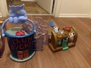 2012 Mattel Imaginext SpongeBob SquarePants Krusty Krab & Chum Bucket Playset
