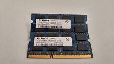 Elpida 4GB(2X2GB) PC3-10600 DDR3-1333MHz non-ECC Unbuffered CL9 204-Pin SoDimm