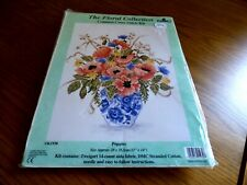 Counted Cross Stitch Kit. The Floral Collection. DMC. Poppies.