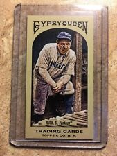 2011 Topps Gypsy Queen Babe Ruth Mini Red Back NM-MT
