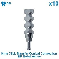 10x DSI Dental Implant Impression Click Transfer Conical Nobel Active NP