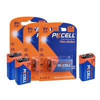 PKCELL 6 Stück 9 Volt 6LR61 1604A 6LF22 EN22 MN1604 Alkaline Batterien