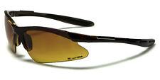 X Loop Sunglasses XL63604HD UV400 Davis E5 High Definition HD amber lens black